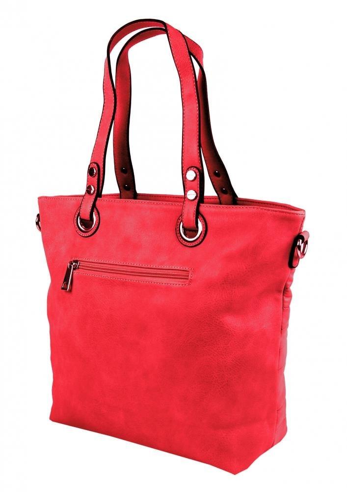 b66df97b6e ... Prošívaná elegantní kabelka na rameno YH1605 červená ...