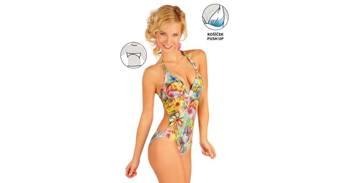 f4a290c77ce Jednodílné plavky s košíčky push-up 85350