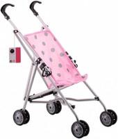 Kočárek dětský golfky růžový s puntíky pro panenku miminko