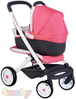 Kočárek Maxi Cosi 3v1 trojkombinace růžovo-černý pro panenku miminko