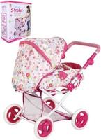 Kočárek Tutu Love 45x59x38cm růžovo-bílý hluboký pro panenku miminko