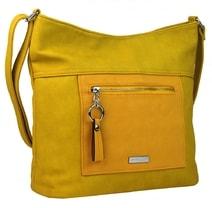 Velká banánově žlutá crossbody dámská kabelka s čelní kapsou NH8047 877f4d29542