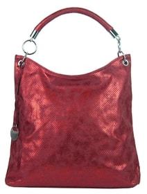 Moderní velká metalická kabelka přes rameno 665-MH červená 0fea1504a9