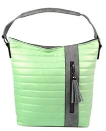 Prošívaná kabelka crossbody i přes rameno H16203 pastelová zelená 72384640d4e