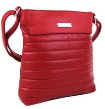Elegantní prošívaná crossbody kabelka YH1603 červená 5c92e466047