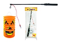 Lampion Halloween s hůlkou, 39 cm