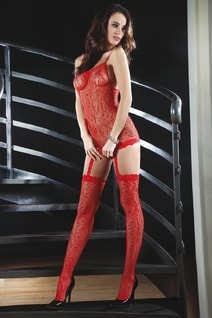 Bodystocking Catriona red