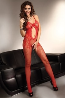 Bodystocking Magali red