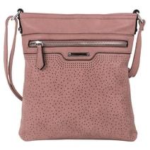 Růžová menší elegantní dámská crossbody kabelka 1735-BB d3feffd8be1