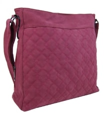 Velká červená crossbody kabelka z broušené kůže 613-3 90eeb466a70