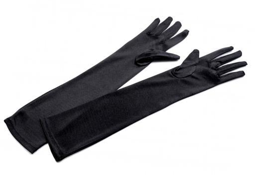 9a18f2c9a00 Společenské saténové rukavice 45 cm