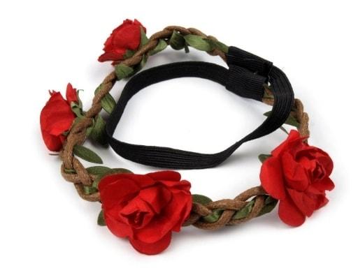 bf5b6db8640 Pružná čelenka do vlasů s růžemi