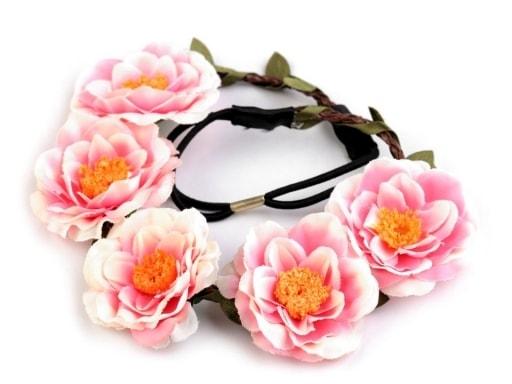 Pružná čelenka do vlasů s růžemi  2bb2fa4307