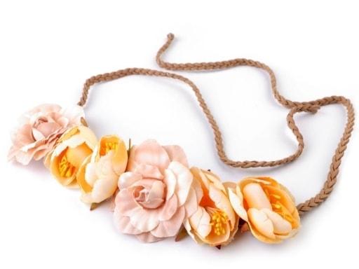 Čelenka do vlasů s květy - zavazovací  95e0fadb1f