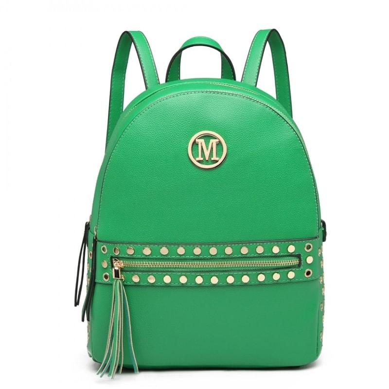 528410c6ae3 Zelený dámský stylový batůžek Miss Lulu