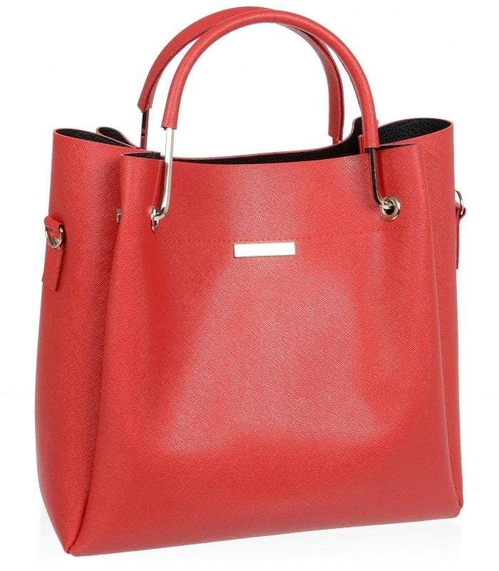 Červená elegantní dámská kabelka S728  a57f6057f66