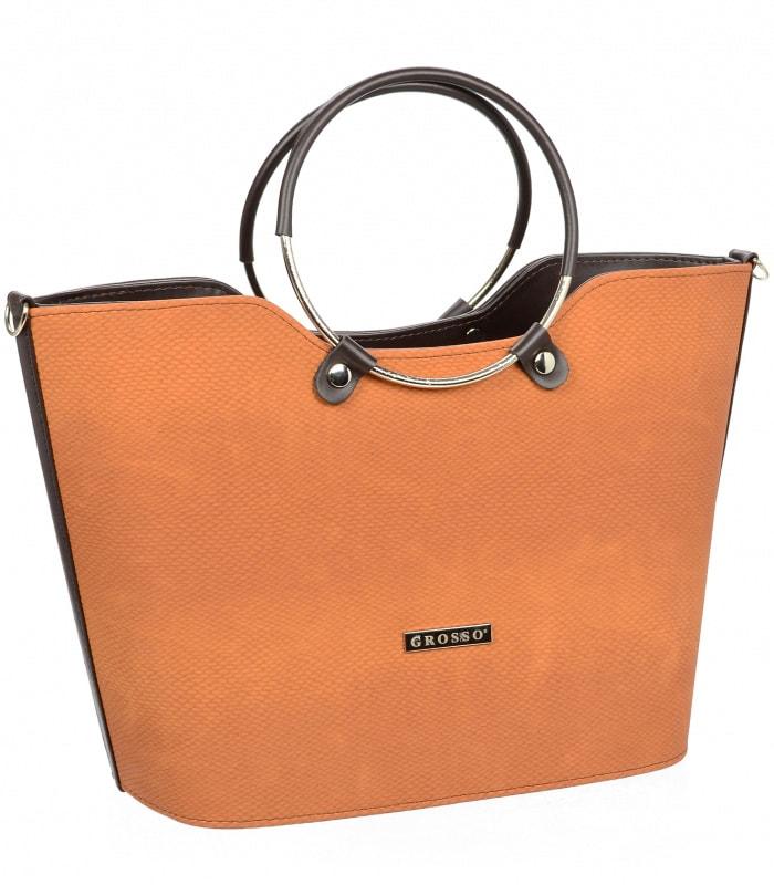 Cihlová moderní dámská kabelka do ruky S745  6f48ce90346