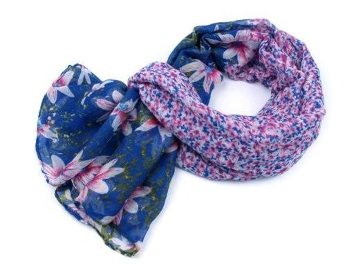 Šátek květy 90x180 cm