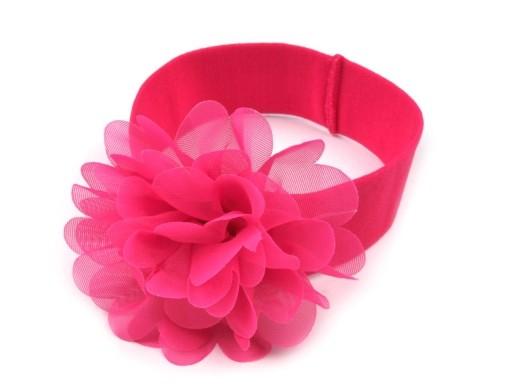 1b715f6cbf8 Dětská elastická čelenka s květem