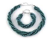 Náhrdelník a náramek z voskovaných perel