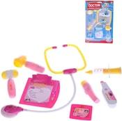 Set doktorský dětské plastové lékařské potřeby na baterie na kartě Světlo Zvuk 2 barvy