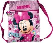 Batoh dětský holčičí Disney Minnie Mouse velký růžový pytlík v sáčku
