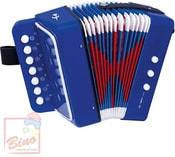 Harmonika dětská modrá tahací akordeon