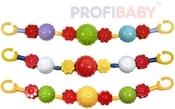 Zábrana koule kytičky řetěz na kočárek pro miminko různé barvy