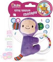 Baby chrastitko opička kroužek s kuličkami pro miminko