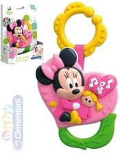 Baby chrastítko Minnie srdíčko na baterie pro miminko Zvuk