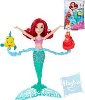 Panenka Disney Princess Ariel 30cm mořská panna točí se plave ve vodě