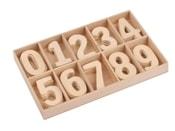 Dřevěné číslice v krabičce