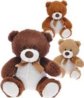 Medvěd s mašlí 25cm 3 barvy