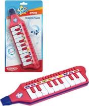 Multipiano foukací dětská harmonika 10 kláves plast na kartě