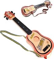 Kytara dětská set s trsátkem 50cm s popruhem 4 struny