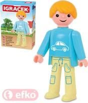 IGRÁČEK Chlapeček figurka 7,5cm rodina v krabičce STAVEBNICE