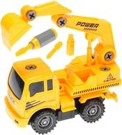 Auto stavební 18cm na setrvačník šroubovací set s nástroji 2 druhy plast