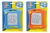 Tabulka magnetická kreslicí 16 x 13 cm na kartě 2 barvy PLAST