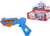 Pistole vesmírná zbraň 18 cm 2 barvy PLAST světlo zvuk