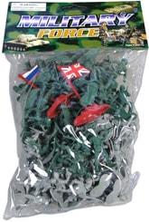 Vojáci army set vojenské plastové figurky + 2 prapory v sáčku