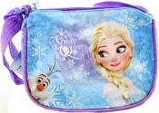 Taštička Frozen (Ledové Království) dětská kabelka s popruhem lesklá fialová