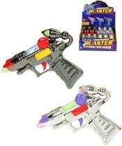 Pistole laserová plastová 16cm na baterie Světlo Zvuk