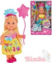 Panenka Evička 12cm narozeninový set Happy Birthday Evi Love 2 druhy