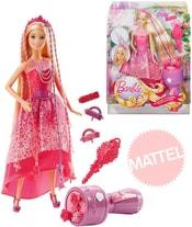 BRB BARBIE Kouzelné extra dlouhé 20cm vlasy set panenka princezna s doplňky