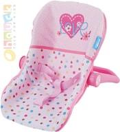 Baby autosedačka pro miminko panenku do 43cm se srdíčky