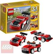 CREATOR Červené závodní auto 3v1 31055 STAVEBNICE