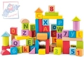 Pastelové baby kostky naučné s písmeny a číslicemi set 40ks