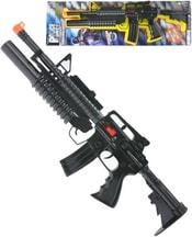 Samopal dětský plastový 52cm jiskřící zbraň na sertvačník na kartě