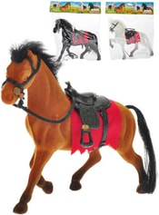 Kůň flíska 18cm se sedlem 3 barvy v sáčku