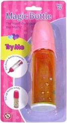 Láhev baby magická plastová s tekutinou na kartě 2 barvy